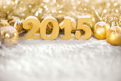 New 2015 year,. 2015 year, golden numbers on the golden background Royalty Free Stock Image