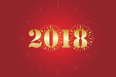 2018 New Year Stock Photography