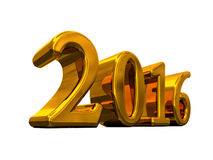 New Year 2016 Golden Text Isolated On White Stock Images