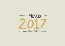 New year 2017. Graphic background for the new year coming - 2017 Royalty Free Stock Photo