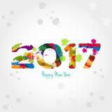 New year 2017. Graphic background for the new year coming - 2017 Stock Image