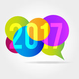 New year 2017. Graphic background for the new year coming - 2017 Stock Photos