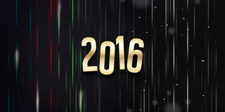 2016 New Year. Graphic illustration image Royalty Free Stock Photography