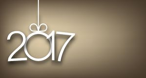 2017 New Year gray background. 2017 New Year sign on gray background. Vector illustration Royalty Free Stock Photography