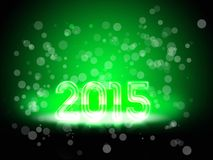 New Year green. Backgroud with a greenful number of 2015 Stock Photo