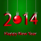 New year. 2014 on a green background Royalty Free Stock Image