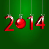 New year 2014. 2014 on a green background stock illustration
