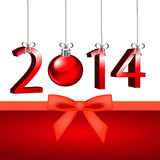New year 2014. 2014 on a green background Stock Photo