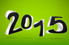 New year 2015 on green background Royalty Free Stock Images