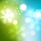 New Year green blurred background Royalty Free Stock Photos