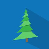New year green christmas tree over blue background Stock Photography