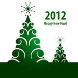 New Year with Green trees Stock Photography