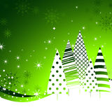 New Year green trees background. Royalty Free Stock Images
