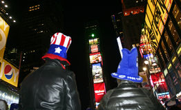 New Year Greeted at Times Square Stock Images