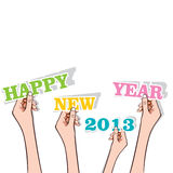 New year greeting. Stock vector Royalty Free Stock Photography
