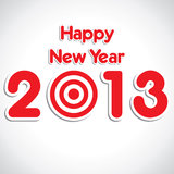 New year greeting Stock Image
