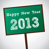 New Year Greeting. Card wirk board 2013 Royalty Free Stock Photo