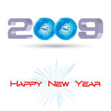 New Year Greeting. Happy New Year Greeting Card -Vector Art Royalty Free Stock Image