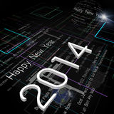New Year Greeting on Background of Technology Royalty Free Stock Images