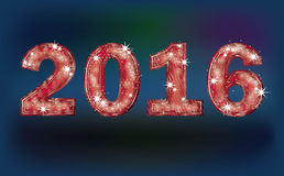 2016 New Year greeting banner,. Illustration Stock Photography
