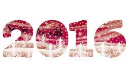 New 2016 year greeting banner, vector. Illustration royalty free illustration
