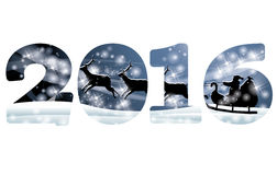 New 2016 year greeting banner, vector Royalty Free Stock Image