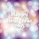 New year greeting 2015  on bokeh background. With sparkles, vector illustration, eps 10 with transparency Royalty Free Stock Photos
