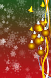 New year greeting card. With christmas tree and stars Stock Photo