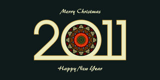 New year greeting card. Design of new year 2011 greeting card Royalty Free Stock Photography