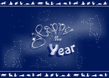 New Year greeting card Stock Photography