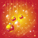 New Year Greeting Card Stock Photo