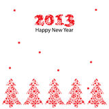 New Year greeting card. Vector illustration, New Year greeting card Stock Photo