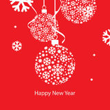 New Year greeting card. Vector illustration, New Year greeting card Royalty Free Stock Photos