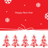 New Year greeting card. Vector illustration, New Year greeting card Stock Image