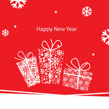 New Year greeting card. Vector illustration, New Year greeting card Stock Photography