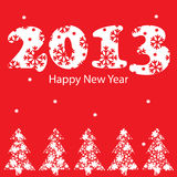 New Year greeting card. Vector illustration, New Year greeting card Royalty Free Stock Image