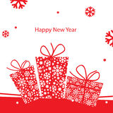 New Year greeting card. Vector illustration, New Year greeting card Stock Photos