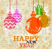 New Year greeting card. Vector christmas and New Year greeting card Royalty Free Stock Image