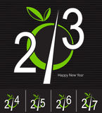 New Year greeting card. Design for the new year 2013, 2014, 2015, 2016, 2017 and Happy New Year greeting card Stock Photo