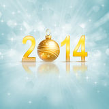 New 2014 year. Greeting card stock illustration
