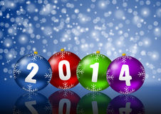 2014 new year. Greeting card Royalty Free Stock Photography