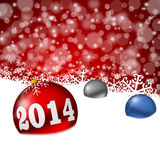 2014 new year. Greeting card Stock Photography