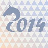 2014 new year. Greeting card Stock Images