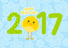 New Year greeting card. 2017 New Year greeting card Stock Photos