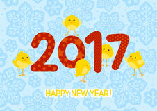 2017 New Year. Greeting card Stock Image