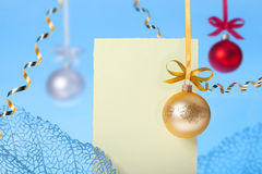 New Year greeting card Stock Images