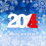 New Year 2014, Greeting Card. New Year 2014 on background with snowflakes vector illustration
