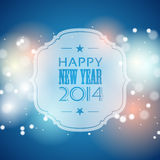 New year 2014 greeting card Royalty Free Stock Image