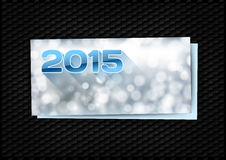 2015 New Year. Greeting card with blue numbers 2015 Royalty Free Stock Image