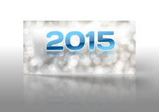 2015 new year. Greeting card with blue numbers 2015 vector illustration